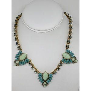 J. Crew Factory Blue Crystal Necklace NWT